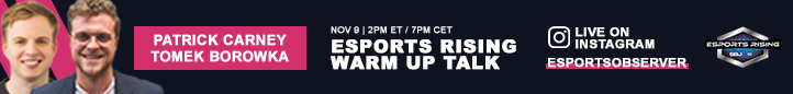 Join the Esports Rising 2020 Join the Warm Up Talk on Instagram Live